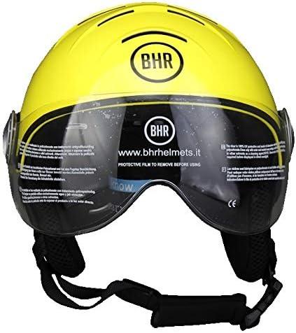 Size M Fluo Yellow 57//58/cm BHR 11839/Demi Jet Line Ski Helmet 820