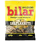 16 Bags x 100g of Ahlgrens Bilar Saltlakrits - Swedish Salty Licorice - Salmiak - Soft & Chewy - Marshmallow Cars Candy
