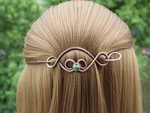Amazon.com: 2017 Celtic Copper Hair Clip Barrette Wire