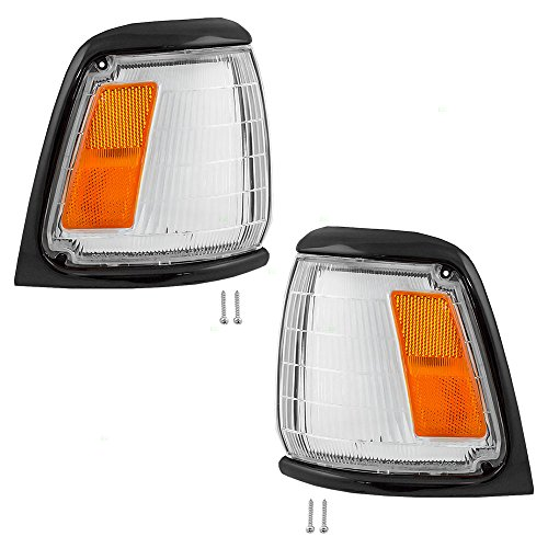 (Driver and Passenger Park Signal Corner Marker Lights with Paint-to-Match Trim Replacement for Toyota Pickup Truck 81620-89175 81610-89175)