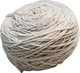 RaanPahMuang Thick 100% Cotton Craftwork Crotchet Twist Cord Thread 220 grams, Cream