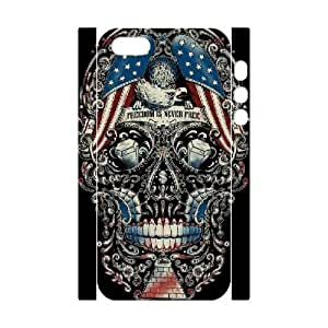 3D IPhone 5,5S Cases Graphic Design Creepy Protective Cute For Girls, Iphone 5s Case For Men Protective Cute For Girls [White]