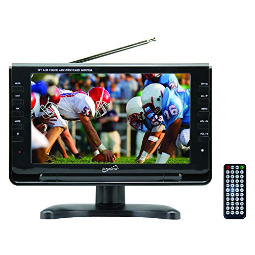 SuperSonic SC-499 Portable Widescreen LCD Display with Digital TV Tuner, USB/SD Inputs and AC/DC Compatible for RVs, 9-Inch
