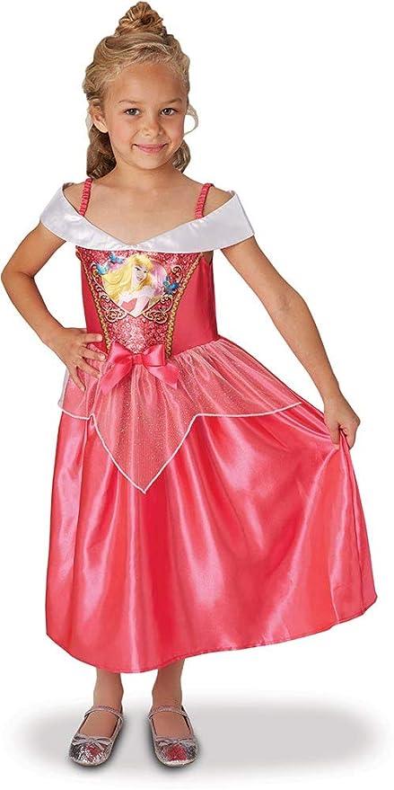 38c10fb88 Princesas Disney - Disfraz de Bella Durmiente con lentejuelas para niña