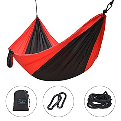 Mountaintop Outdoor Camping Hammock-Lightweight Portable Nylon Parachute Hammock for Backpacking,Travel,Beach,Yard