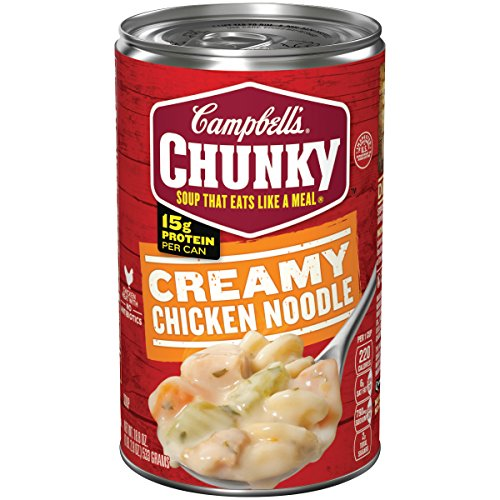 Campbell's Chunky Soup, Creamy Chicken Noodle, 18.8 Ounce (Packaging May (Cream Chicken Noodle Soup)