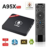 Edal A95X PRO Voice Remote Control Android 7.1 tv Box DDR3 2GB RAM 16GB ROM 4K Smart TV Box 64bit Quad-core ARM Cortex-A53 CPU 2.4G WiFi