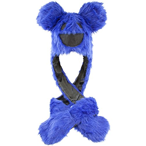 Deadmau5 DJ Purple Bear Head Snood Beanie Faux Fur Hat Winter Rave Costume Knit (Mask Deadmau5 Head)