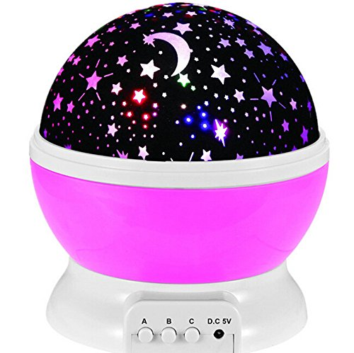 Life Tandy Sun And Star Lighting Lamp 4 Led Bead 360 Degree Romantic Room Rotating Cosmos Star Projector With 59 Inch Usb Cable  Light Lamp Starry Moon Sky Night Kid Bedroom Lamp For Christmas Pink