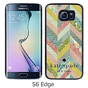 Unique And Beautiful Designed Kate Spade Cover Case For Samsung Galaxy S6 Edge Black Phone Case 92