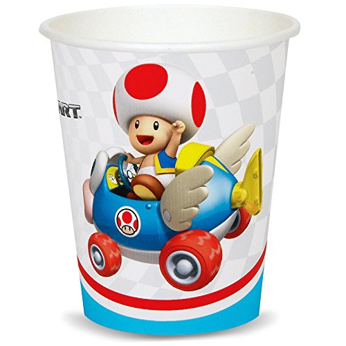 Super Mario Bros. Mario Kart Birthday Party Supplies 48 Pack Paper Cups