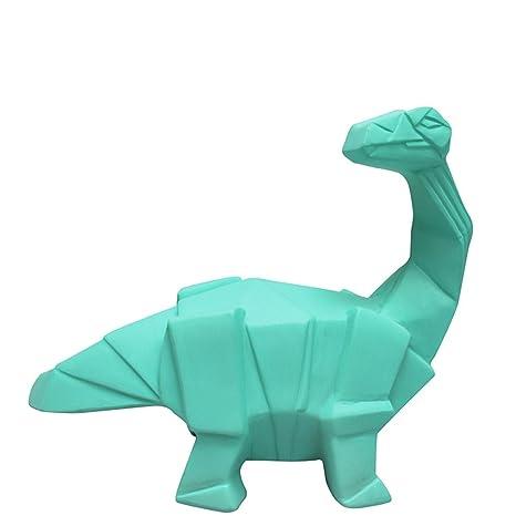 Mini luz nocturna lmpara dinosaurio branquiosauro Origami Verde