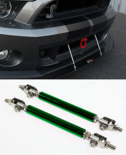 Amazon.com: Universal Adjustable Front Bumper Lip Splitter Support Strut Rod Tie Bars- A Pair (Green): Automotive