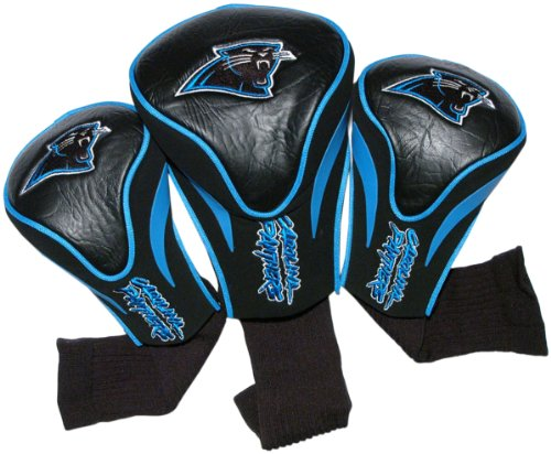 NFL Carolina Panthers 3 Pack Contour Head Covers