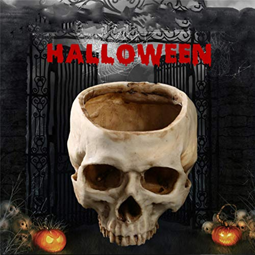 Prop Halloween Skeleton Animal Halloween Resin Skull Ashtray Container Box Skeleton Film Shooting Props Creative Flowerpot Halloween Home Decorations Nice Gift by HATABO