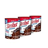 global weight loss program - SlimFast – Original Meal Replacement Shake Mix Powder – Weight Loss Shake – 10g of Protein – 24 Vitamins and Minerals Per Serving – Great Taste – 12.83 oz. – Pack of 3 -  Rich Chocolate Royal