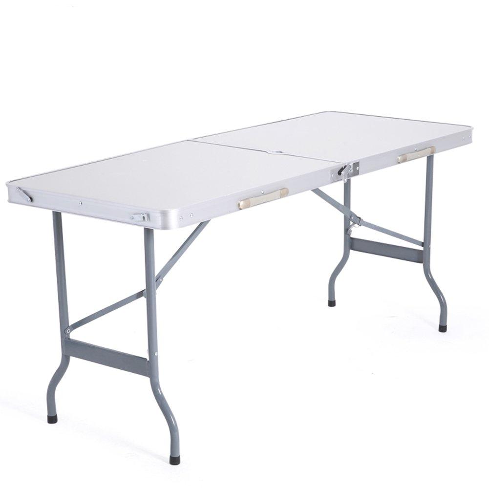 XUERUI テーブルチェア 屋外の折りたたみテーブルのストールテーブルの折り畳みダイニングテーブルポータブルアルミテーブルホワイトアルミ合金   B07FXFZKW9