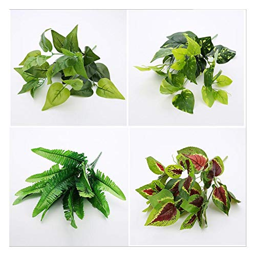 Topdo Planta Artificial Colgante para decoraci/ón de Pared Plantas Artificiales para jard/ín decoraci/ón de 40 cm Boda Fiesta Color Verde Oficina