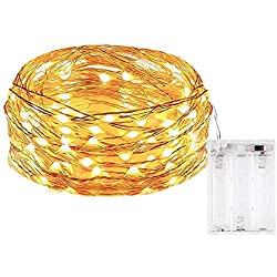 XINKAITE Fairy String Lights Battery Operated 9.8Ft 3M 30 LEDs Firefly Lights, for Wedding Centerpiece Thanksgiving Dinner Party Christmas Decoration, Crafting(Warm White)
