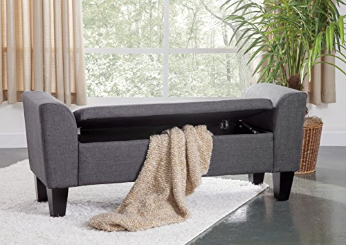 - Grafton 1495-47-L04 Chloe Storage Bench, Medium, Gunmetal
