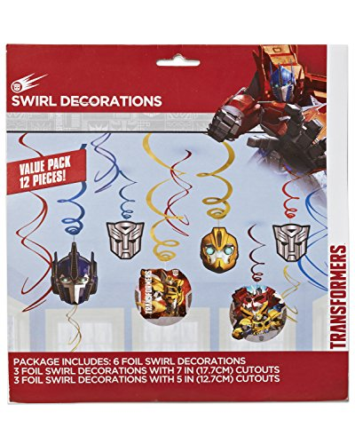 Transformers Value Pack Foil Swirl Decorations, Party Favor -