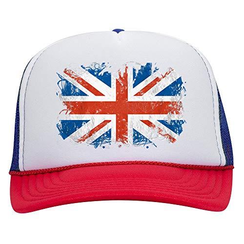 NeeNoNex British Flag Polyester Foam Front Mesh Back Trucker Hat ~ Union Jack