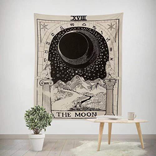 Yu2d  Star Sun Moon Peach Skin Velvet Print Tapestry Blanket Towel Yoga Mat(B) -