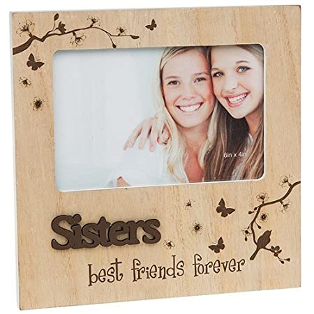 Sisters Best Friends Forever Wooden Photo Frame Block Amazoncouk