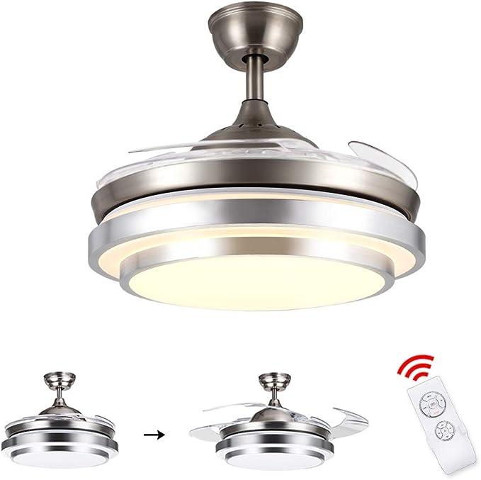 ZEKEI Ventilador de Techo con lámpara y Control Remoto, 36W LED ...