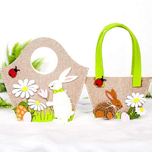 Accessoire Bonbons Cadeau Pâques Taottao À Sac Créatif Maison De Marron Lapin W8SSnHA