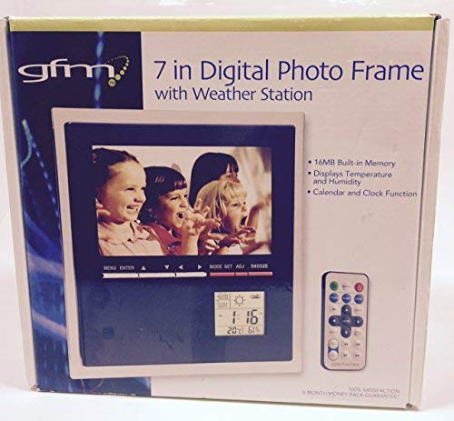 (GFM 7 Inch Digital Photo Frame With Weather Station)