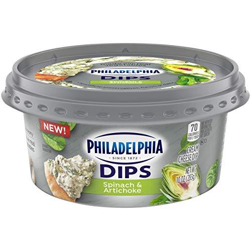 Philadelphia Dips Spinach Artichoke Cream Cheese Spread & Dip (10 oz Tub)