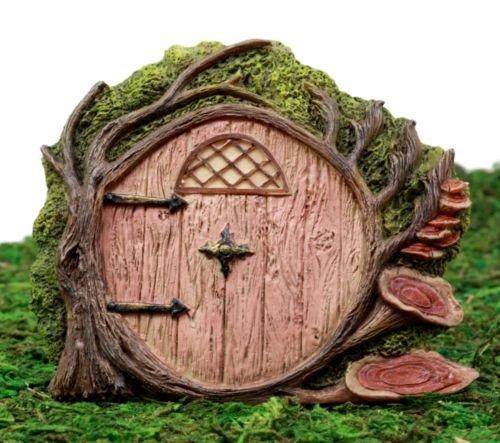Fairy Garden Cottage Miniature Gnome Hobbit Dwarf Tree House Door Figurine 4'',H premium decor collectible (Dwarfs Cottage)