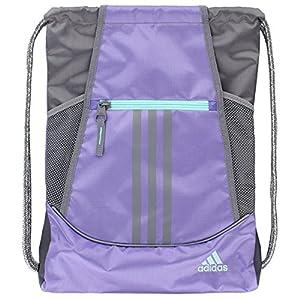 adidas Alliance II Sack Pack, One Size, Light Flash Purple/Grey/Energy Aqua