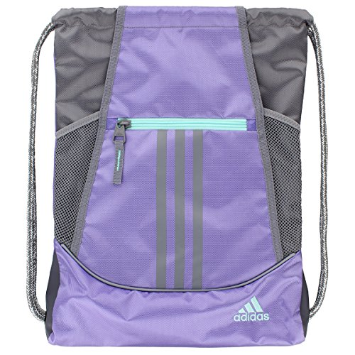 adidas Alliance II Sack Pack, One Size, Light Flash Purple/Grey/Energy Aqua