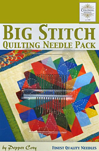- Colonial Needle CN-PC-2 Big Stitch Quilting Needle Pack by Pepper Cory