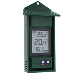 Digital Greenhouse Thermometer – Max Min Thermometer to Monitor High and Low Temperatures in a Greenhouse – Hi Lo Temperature Recording Thermometer Greenhouse Accessories