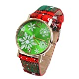 Women Watches Fashion Quartz Watch Female Christmas Pendant Watch Ladies Plaid Band Wrist Watch