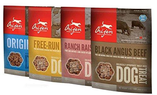 Image of Orijen Freeze Dried Dog Treats 4-Pack (Original, Angus Beef, Alberta Lamb, Free-Run Duck)