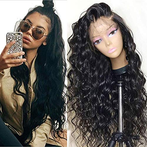 Glueless Lace Front Wigs for Women Natural Wave Pre-plucked Hairline with Baby Hair Heat Resistant Fiber Synthetic Lace Wigs 24 - Wigs Lace Half Front