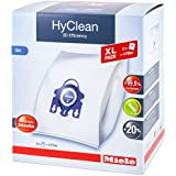 Miele Hyclean 3D Efficiency XL GN Dustbags - 8x Miele Hyclean 3D GN Vacuum Bags + 2x Motor Filter, 2x Super Air Clean filter