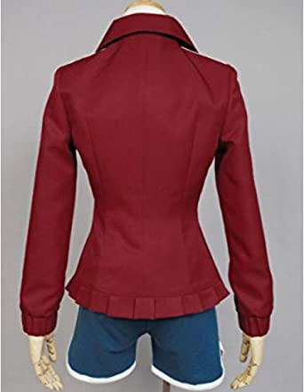 Amazon.com: Nsoking Danganronpa Dangan-Ronpa Aoi Asahina Cosplay Costume  School Uniform Custom: Clothing