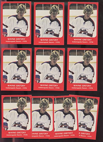 (LOT 10 1978 Wayne Gretzky Indianapolis Racers Pre ROOKIE Hockey Card Collection)