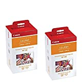 Canon Color Ink/Paper Set, Compatible with SELPHY CP910/CP820/CP1200, RP-108 (Pack of 2)