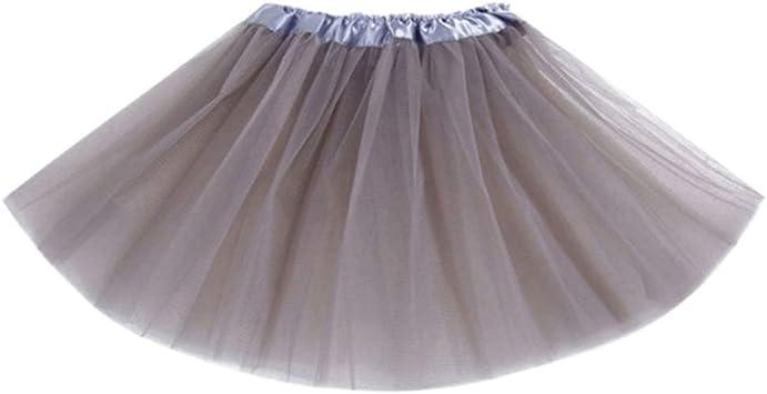 Qlans Falda de Baile de Ballet para niñas con múltiples Capas ...