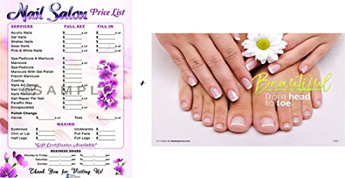 Nail Salon Poster, Nail Salon Price List, Nail Poster Design by Clipper Int'l Posters,