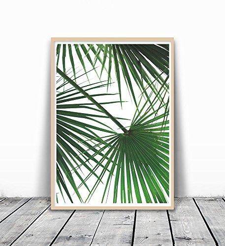 Tropical Leaf Print, Palm Tree Print, Palm Leaf Print, Palm Tree Art, Wall Art, Green Wall Decor, Tropical Art, Palm tree, Plant Wall Art, Green Plant, Green Leaves Art, Leaves - Tree Palm Frame