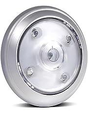 Maclean energy - Mce28 - lámpara 5xled de tacto, alimentada por baterías, adhesiva, para habitaciones, de almacenamiento