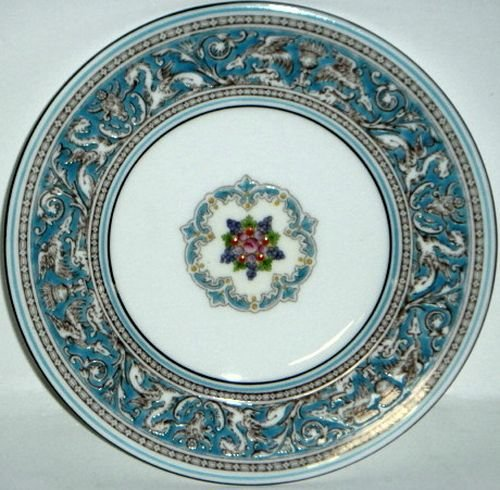 Florentine Bread - Wedgwood Florentine Turquoise W2714 Bread & Butter Plate