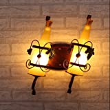 Leihongthebox Wall Sconce Industrial Edison retro style Wall lamp glass wine bottle Wall Sconce lights light industrial Studio Lamp (Oil Rubbed Bronze)